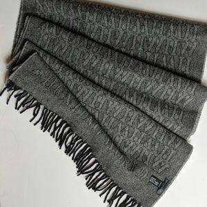 Hunting World Lambswool/Cashmere monogram scarf